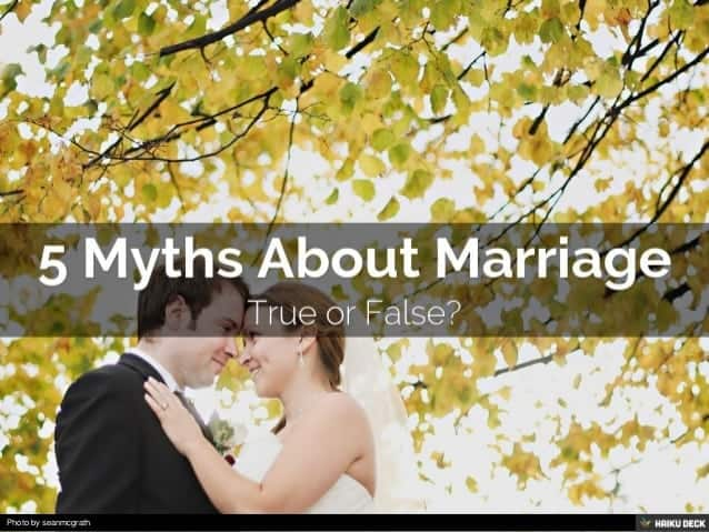 Is this popular marriage advice fact or myth?