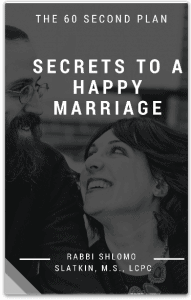 60 Second plan to a happy marriage