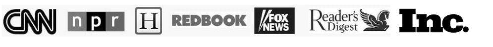 As seen on CNN, NPR, Redbook, Fox News, Reader's Digest, Inc.